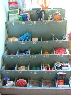 I shall be looking for something like this at brimfield!#sewing #storage #organize #antique