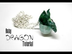 Baby Dragon Egg Polymer Clay Pendant Tutorial | Fantasy Jewellery/Jewelry DIY - YouTube
