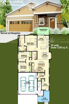 3 bedroom bungalow house plans in kenya house plans for Award winning narrow lot house plans
