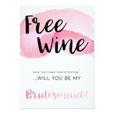 Will You Be My Bridesmaid Invitation - wedding invitations diy cyo special idea personalize card