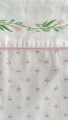 Vintage Laura Ashley Castleberry Queen Flat Sheet