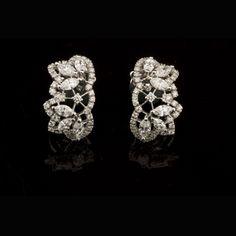 Stunning diamond ear clips by Stephan Hafner