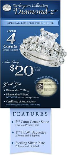 Order your Diamond-z4™ Ring now.