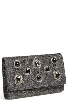 Glint Jewel Flap Clutch available at #Nordstrom