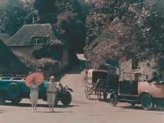 COLOR film of English village in 1924.
