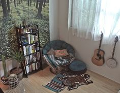 Imagem de room, bedroom, and books