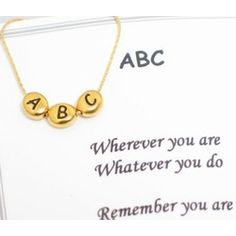 ABC Gold Necklace
