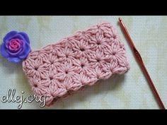 Плотный цветочный узор крючком по кругу. Crochet flower stitch - YouTube