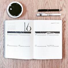 Bullet journal weekly layout. | @supermassiveblackink