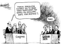 financial cartoons | Financial Deregulation