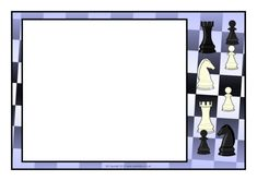 Chess Page Borders - SparkleBox Chess Books, Word Templates, Page Borders, Upcycled Crafts, Microsoft Word, Cartoon, Mini, Image, Gingham