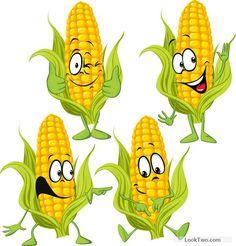 Corn cartoon characters vector material free vector download