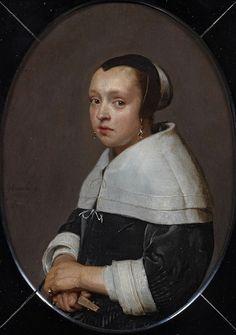 Portrait of a Young Woman, probably Eva van Beresteyn, Jan de Bray, 1662