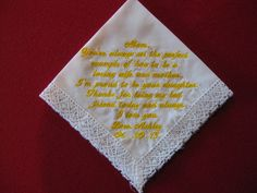 Mother of the Bride Handkerchief Corner design with by CannStitch, $30.00