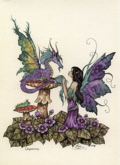 Fairy Dragon Art Postcard by Amy Brown Fantasy Dragon, Dragon Art, Fantasy Art, Elfen Fantasy, Amy Brown Fairies, Fairy Pictures, Mystique, Beautiful Fairies, Art Graphique