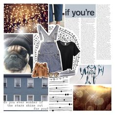 """///the stars shine out for you///"" by tessicat ❤ liked on Polyvore featuring Monki, Juicy Couture, Converse and Prada"