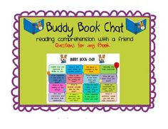 """from """"Elementary Lesson Plans"""" on Teachers Pay Teachers  This reading comprehension partner activity can be used with any fictional book.  It can be used with partners, small group, or working with the te..."""