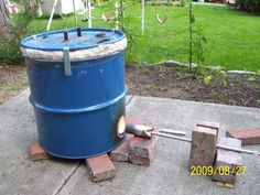 This is what I want for Christmas:  a homemade raku kiln.