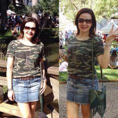 Moda militar está em alta! As tshirts com estampas camufladas estão com tudo! Vamos usar e abusar!