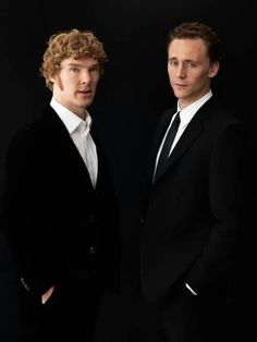 Benedict Cumberbatch and Tom Hiddleston. Imagine if they did a movie with Michael Fassbender? That would be nerd Magic Mike. British Things, British Boys, British Actors, British Artists, Tom Hiddleston Benedict Cumberbatch, Tom Hiddleston Loki, Bennedict Cumberbatch, Avengers, English Men