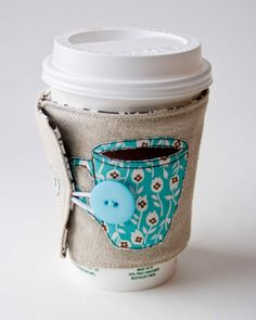 Farmdale Coffee Cozy by VeronicaMade on Etsy