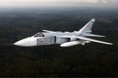 A Sukhoi fighter-bomber/frontline bomber of the Russian Air Force in flight. Image courtesy of Alexander Mishin. Air Force Aircraft, Fighter Aircraft, Luftwaffe, Su 24 Fencer, Sukhoi Su 24, Russian Fighter Jets, Russian Military Aircraft, Russian Jet, Russian Air Force