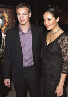 The Mentalist actor Simon Baker and his wife Rebecca Rigg ...