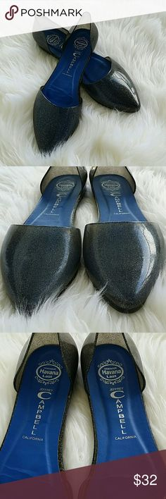 Jeffrey Campbell Jelly Flats Black shimmer Jelly Flats  Size 7 EUC Hardy worn and absolutely adorable Jeffrey Campbell Shoes Flats & Loafers