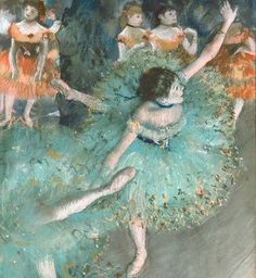 A study of Degas, pastel and mixed media class by Ivy newport