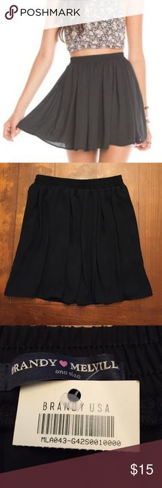 🌹 Brandy Melville Black Luma Skater Skirt 🌹 🆕💕Super cute & flirty💕 Girly black luma skater skirt by hipster brand Brandy Melville! 💕 Material: 100% Rayon; Size: OS with elastic waistband 💕🆕 Price Firm! Brandy Melville Skirts Mini