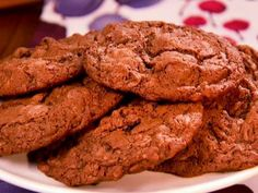 Chocolate Coconut Cookies Recipe from Food Network - use walnuts or pecans.  Delicious!!