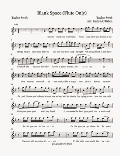 Flute Sheet Music: Blank Space - Sheet Music