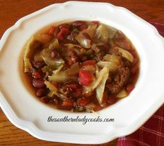 CROCK POT AMISH CABBAGE PATCH SOUP - The Southern Lady Cooks
