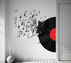 Deco original records Walldesign 600 x 530