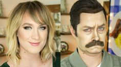 Makeup Artist Transforms Herself Into Ron Swanson From Parks and Recreation