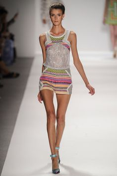 Custo Barcelona Spring 2014 Ready-to-Wear Collection Slideshow on Style.com  Sports touch tank and printed shorts