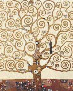 Cross stitch chart: The Tree of Life (detail) - Gustav Klimt