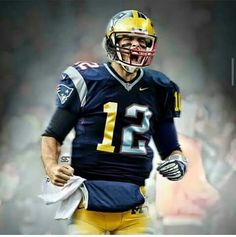 tom brady half michigan half patriots jersey