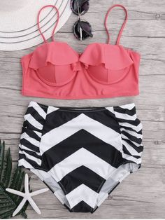 GET $50 NOW | Join RoseGal: Get YOUR $50 NOW!http://m.rosegal.com/bikinis/high-waisted-zigzag-bikini-set-1162191.html?seid=9458760rg1162191