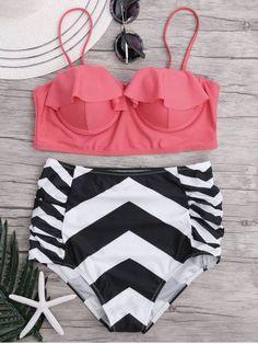 GET $50 NOW   Join RoseGal: Get YOUR $50 NOW!http://m.rosegal.com/bikinis/high-waisted-zigzag-bikini-set-1162191.html?seid=9458760rg1162191