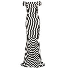 Dolce & Gabbana Silk Dress (31 340 SEK) ❤ liked on Polyvore featuring dresses, gowns, black and white, robe, black, cocktail/gowns, black dress, black and white ball gowns, long dresses and long gowns