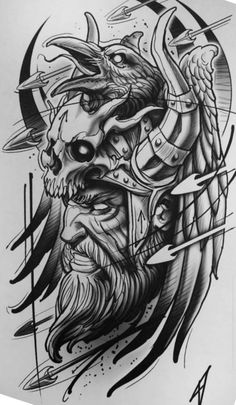 Without Art ! Tattoo Design Drawings, Cool Art Drawings, Tattoo Sketches, Tattoo Designs, Sketch Drawing, Arte Viking, Viking Art, Norse Tattoo, Viking Tattoos