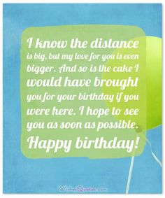The best collection of birthday messages from far away. Send heartfelt birthday wishes to your far away friends and long-distance loved ones. Long Birthday Wishes, Birthday Message For Friend, Birthday Wishes Messages, Birthday Wishes For Myself, Happy Birthday Love Images, Long Distance Birthday, Long Distance Best Friend, Distance Love Quotes, Good Morning Inspirational Quotes
