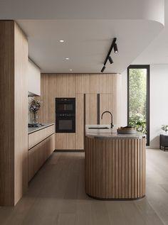 Kitchen Room Design, Modern Kitchen Design, Interior Design Kitchen, Interior Livingroom, Kitchen Ideas, Interior Desing, Interior Modern, Interior Colors, Interior Lighting