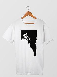 Mtn. Biker Men's T-Shirt  #Apparel  #GoOutLocal #OnlyinIdaho #Boise #MensTShirt #Bike