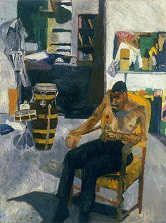 Bob Thompson  Self Portrait in the Studio, 1960