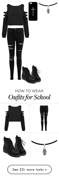 """""""School can sma"""" by meowliv on Polyvore featuring Miss Selfridge, Boohoo and Casetify"""