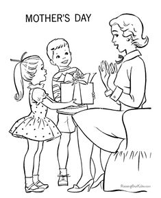 Free printable Mother's Day page to make into a card