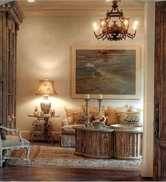 When we saw these pictures we fell in love with the look of the patina style. The old worn wood and stone walls are part of the charm. ...