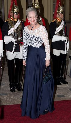 Regal splendour from global guests at Buckingham Palace - Queen Margarethe II of Denmark.